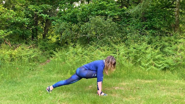 Outdoor yoga sessions are taking place at Sherwood Forest