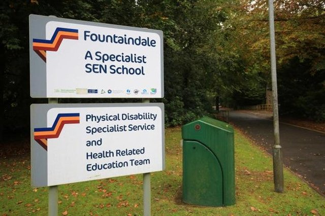 Fountaindale special-needs school in Mansfield, which is making good progress after a damning Ofsted report.