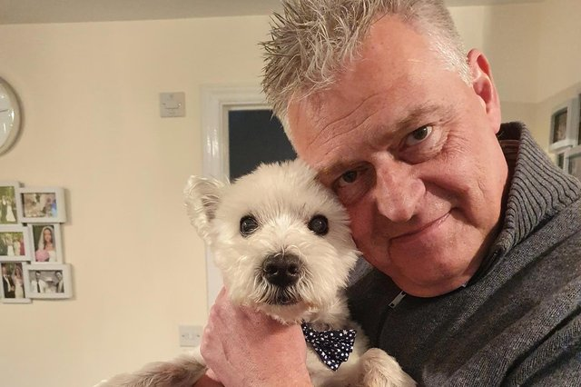 Ashfield MP Lee Anderson pictured with his pet dog Alfie