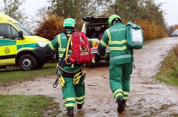 East Midlands Ambulance Service Hazardous Area Response Team joined a crewed ambulance team after reports of a person falling at Sherwood Pines