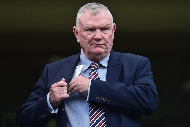 FA Chairman Greg Clarke has issued a stark warning over budget cuts. Photo: Glyn Kirk/AFP via Getty Images.