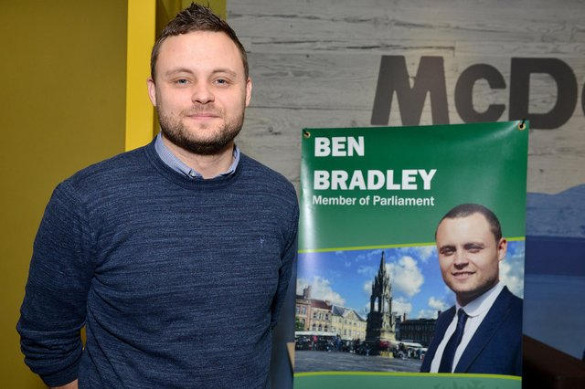 Mansfield's MP Ben Bradley, who is standing at the county council elections next month.