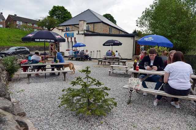 Cakefield Cakes Tea Room has opened a new 'secret garden' outside seating area at Pleasley.