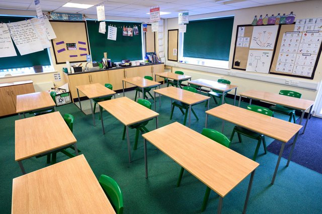 School attendance among pupils on free school meals in Nottinghamshire was lower than that of their peers before the Easter break, figures show. (Photo by OLI SCARFF/AFP via Getty Images)