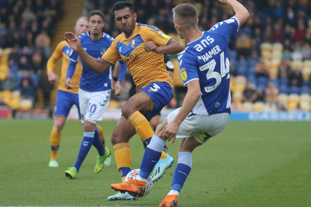 Action from Mansfield Town's match against Oldham Athletic last season at the One Call Stadium.