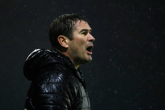Mansfield manager Nigel Clough.