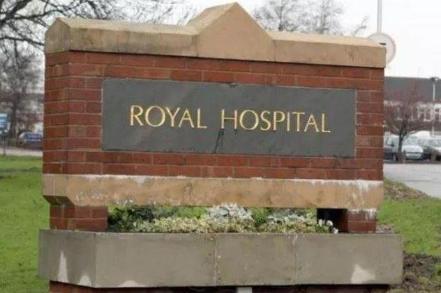 Chesterfield Royal Hospital, where Kit Callanan died shortly after he was born