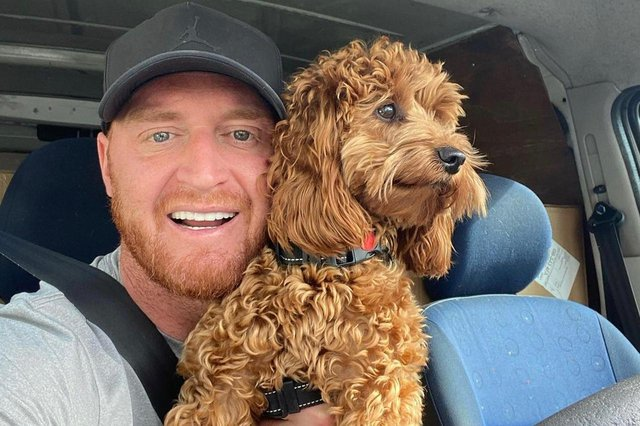 Ben Haye set up the natural dog treat company after he got cockapoo Dudley last year.