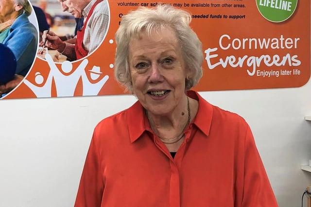Volunteer Sue Brown of the Cornwater Evergreens in Mansfield.