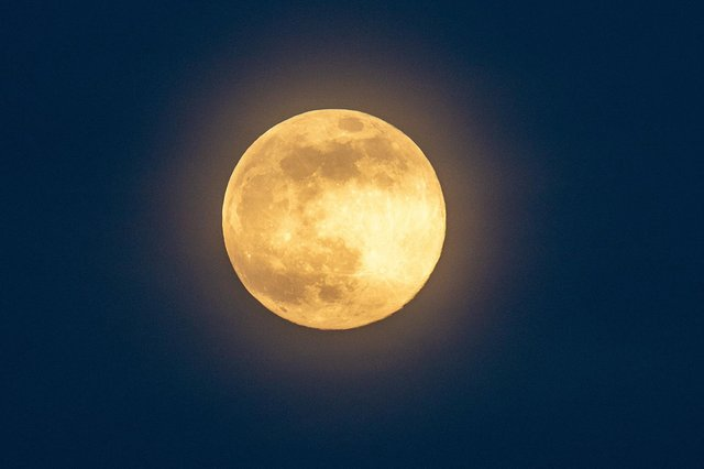 Last year's pink supermoon. Picture: Bruce Rollinson