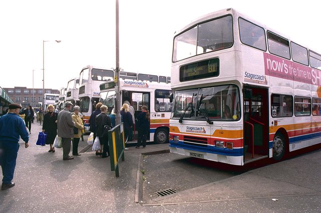 The bus station was well-used until its closure
