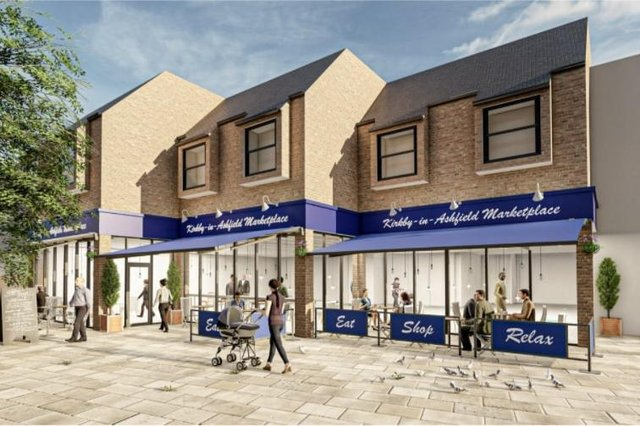 An artist's impression of the new Kirkby indoor market.