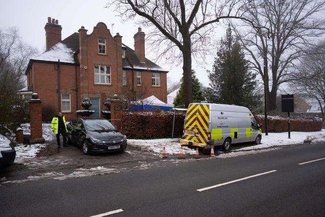 Police at the scene of the alleged incident last week