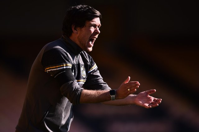 Ex-Stag Darrell Clarke, now manager of Port Vale.