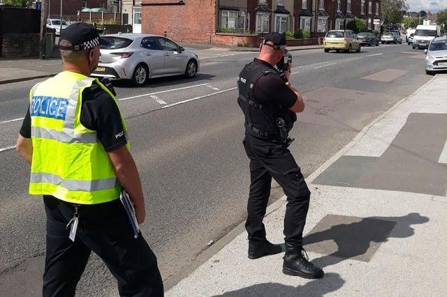 Police put the brakes on speeding motorists in Mansfield. Photo: Notts Police/Facebook