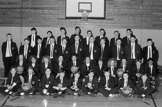 Kirkby Centre School Basketball Teams taken in 1990