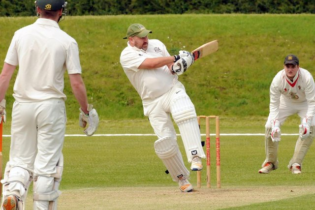 Clipstone and Bislthorpe's Lee Wilson in batting action.