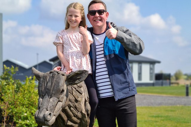 Sutton businessman Scott Marsh and daughter Priya, who wanted to follow in his footsteps by launching her own business.