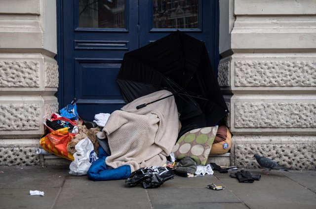 Dozens of households in Mansfield were assessed as homeless or threatened with homelessness last winter, figures show.  (Photo by Chris J Ratcliffe/Getty Images)