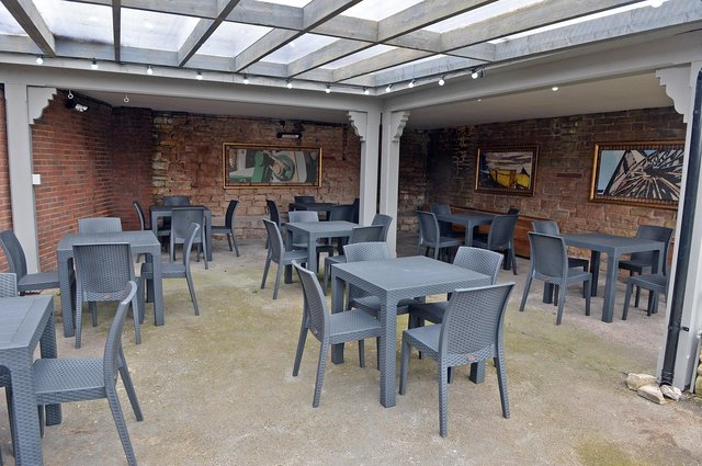 The new outside area at the Hare & Hounds is ready for lockdown easing next month.