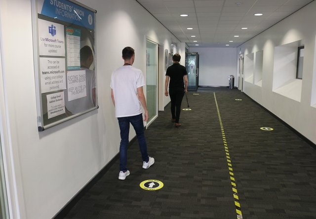 One way systems are in place at schools across Mansfield, including West Nottinghamshire College