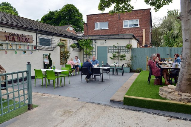 Cakefield Cakes Tea Room in Pleasley opened its new 'secret garden' outside seating area last month.
