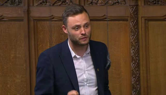 Mansfield MP Ben Bradley during Prime Minister's Questions on Wednesday.
