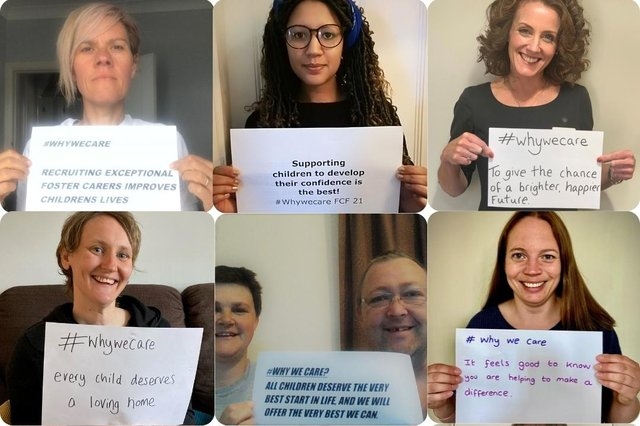 Foster carers, social workers and staff from Nottinghamshire County Council's fostering service share their own messages of #WhyWeCare