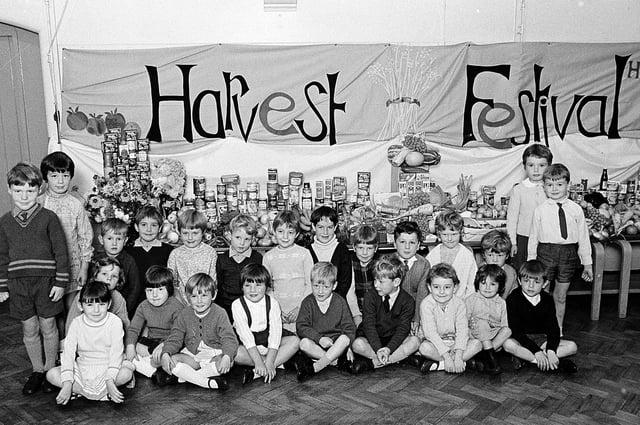 Hetts Lane harvest festival in 1968