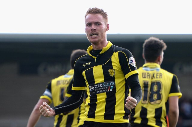 Tom Naylor in action for Nigel Clough at Burton Albion.