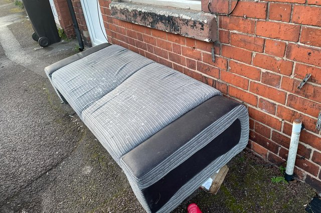 A sofa was fly-tipped in St Michael's Street, Sutton