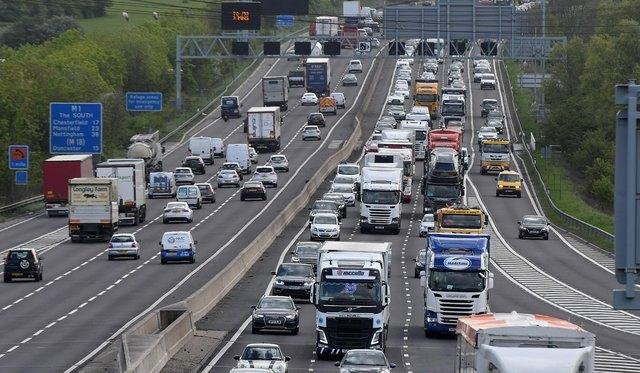 The M1 has fully reopened following an earlier crash involving three lorries.