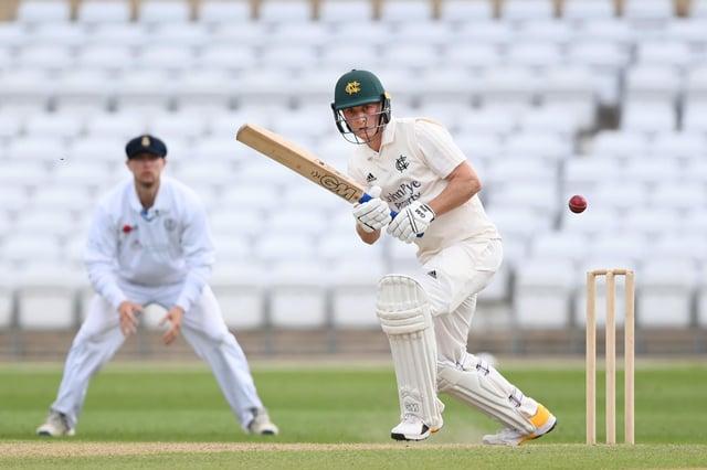 Joey Evison of Nottinghamshire - first five wicket haul.