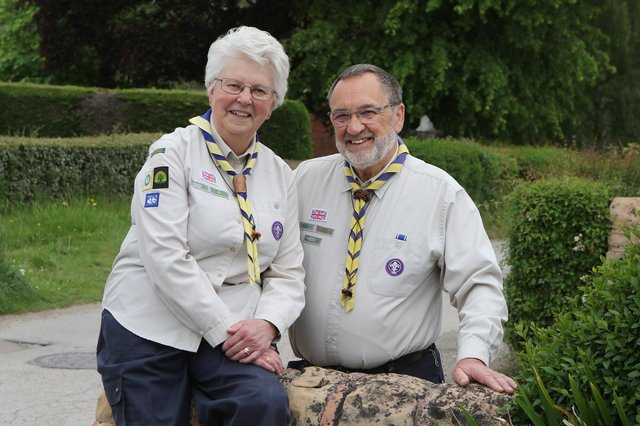 Steve and Joyce Cree have walked more than one million steps to raise money for a minibus for the Scouts.