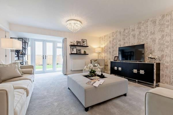 The living room in the Edlingham style showhome