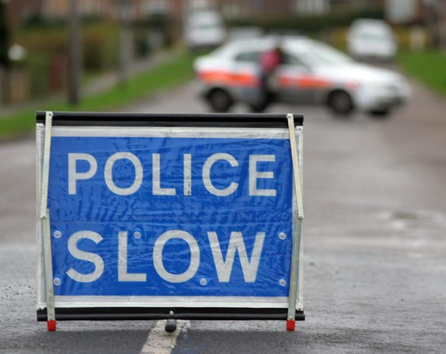 Forest Road in Warsop was blocked on Wednesday afternoon after a two-car collision.