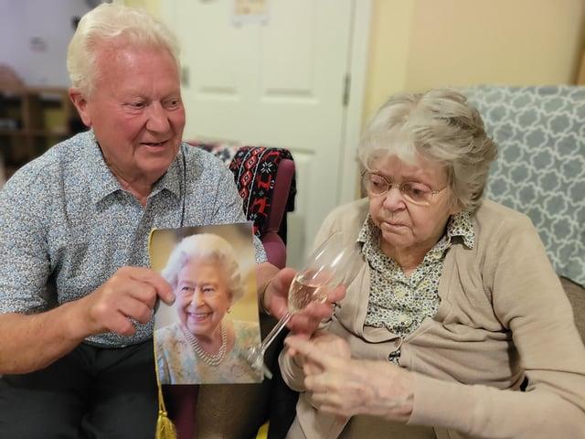 Jim and Christine Adams celebrate their diamond day.