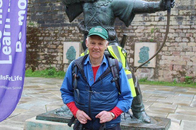 David Huxley is raising money for Walesby Forest.