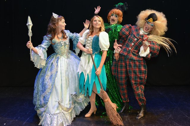 A scene from one of the Palace Theatre's popular annual pantomimes, 'Cinderella'.