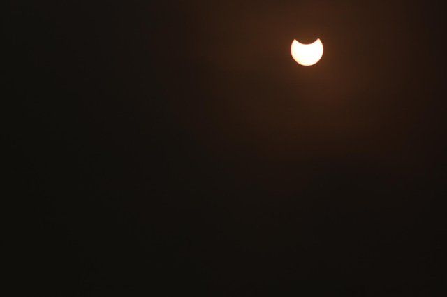 Michael Knowles captures the partial solar eclipse in Mansfield.