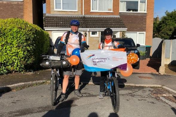 Megan and her uncle Daren set off from Mansfield on Monday morning to ride 215 miles to Brighton.