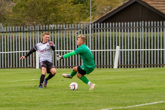 Mitch Mullins wins it for Clipstone. Pic by Dan Walker.