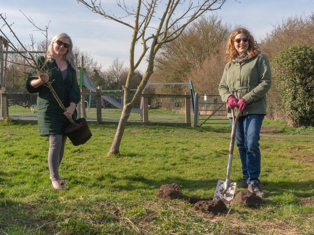Coun Karen Roberts, vice-chair of the Town Environment Committee, and Coun Sally Reynolds, chair of Southwell Town Council