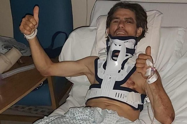 Costel Tablan is recovering in hospital after suffering horrific injuries when his van was stolen.