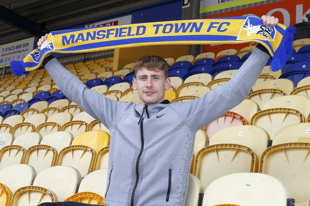 First summer signing for Stags Elliott Hewitt.