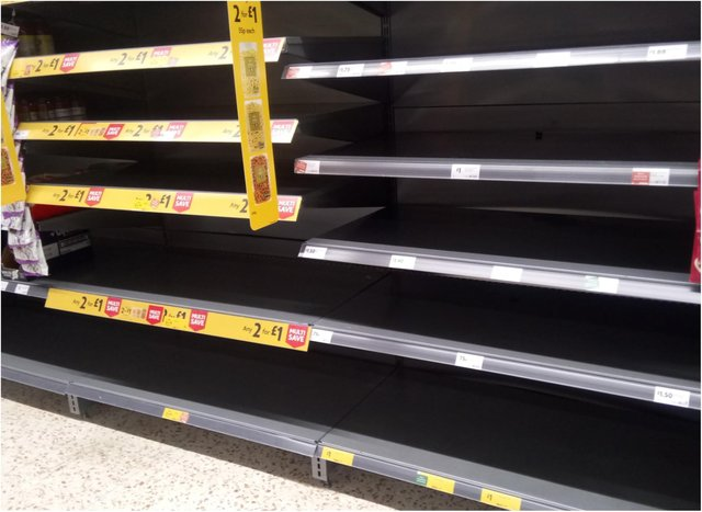 Shoppers have been told not to panic buy.