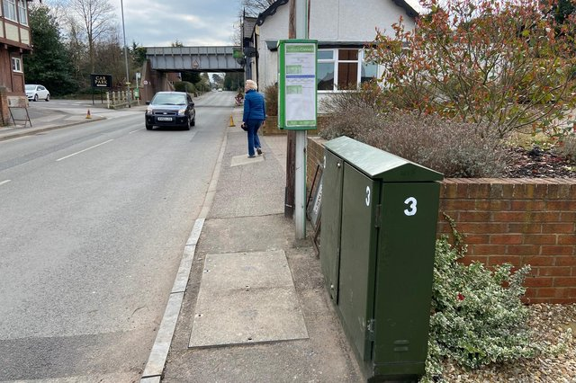 The green supply box that was next to a bus stop in Edwinstowe.