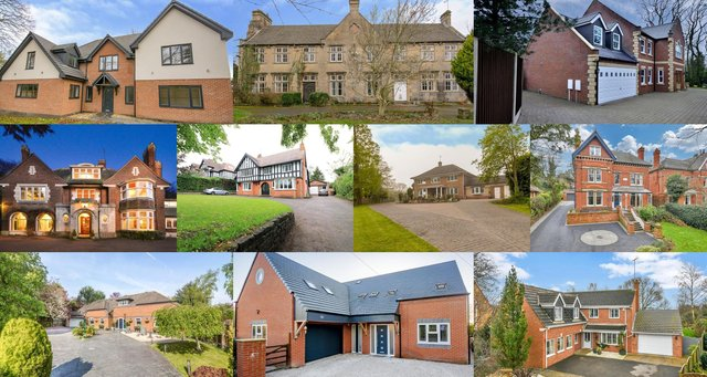 The 10 most expensive homes listed for sale in Mansfield on Zoopla.