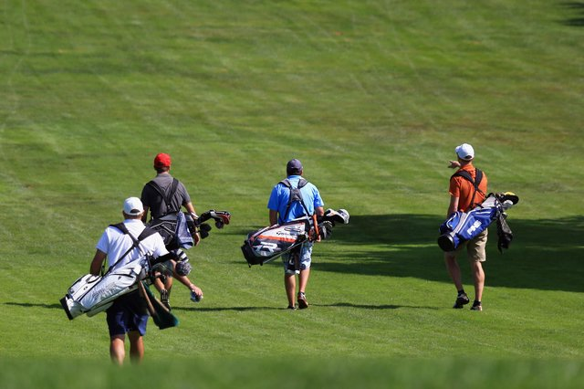 Golf is expected to be one of the first sports allowed to resume as lockdown restrictions are eased. (Photo by Bruce Bennett/Getty Images)