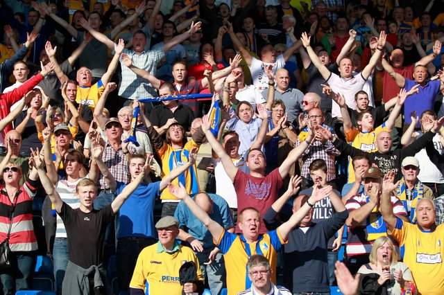 Stags fans in full cry at the One Call.